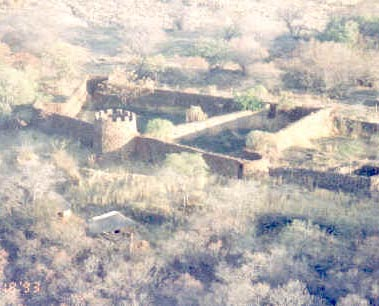 Fort Merensky photographed from the air.